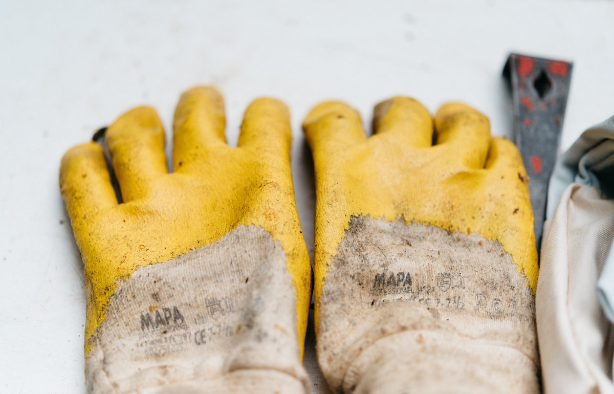 Wear gloves for protection - hand care